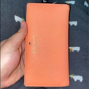 Pink/Peach Kate spade fold in wallet.